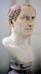 Bust of Gaius Julius Caesar in the National Archaeological Museum of Naples.