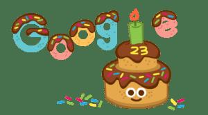 Google денеска го слави 23-от роденден