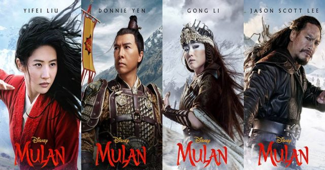 mulan, disney plus, posters, 30 augustus 2020