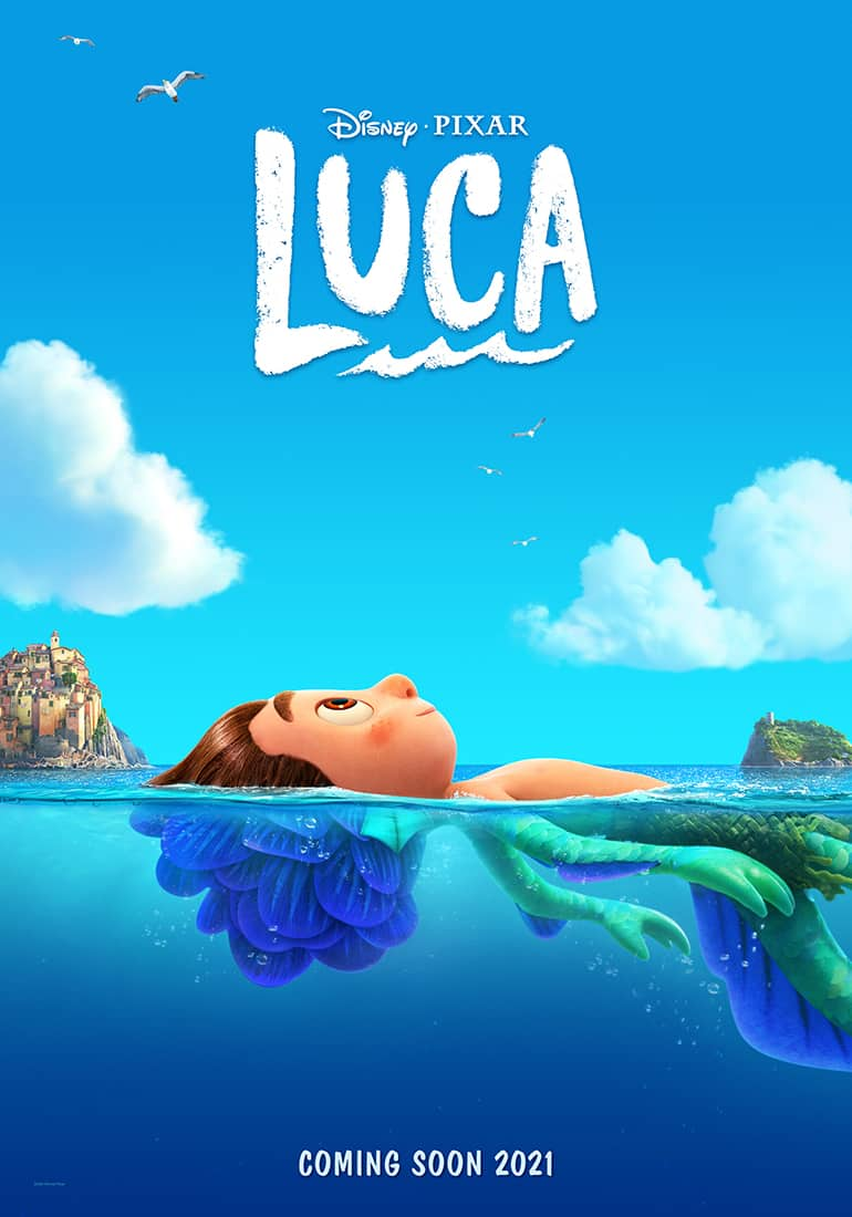 Luca, disney poster