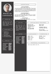 CV Template Geneve  Go Sumo cv template
