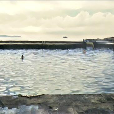 帶香港人去九孔池游泳,基隆和平島公園
