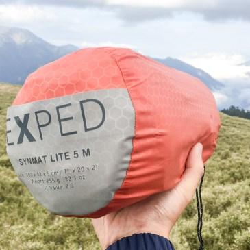 輕巧好收納的充氣睡墊!EXPED SynMat Lite 5 M