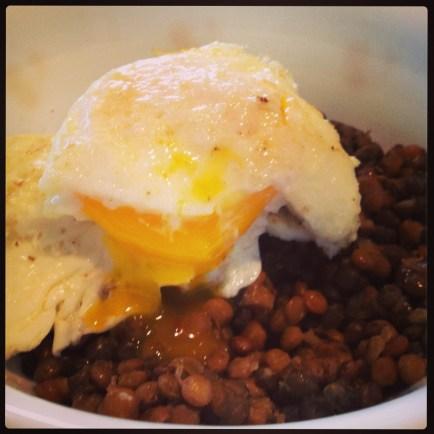 Egg + Lentils
