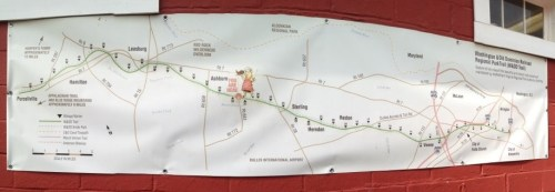Panoramic Map of Washington And Old Dominion Trail