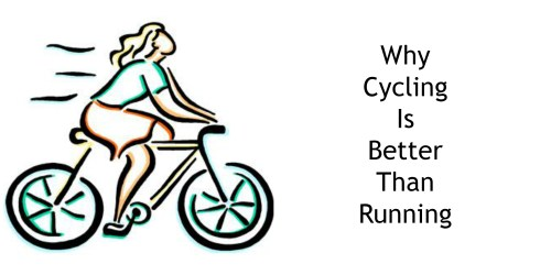 cycling or running