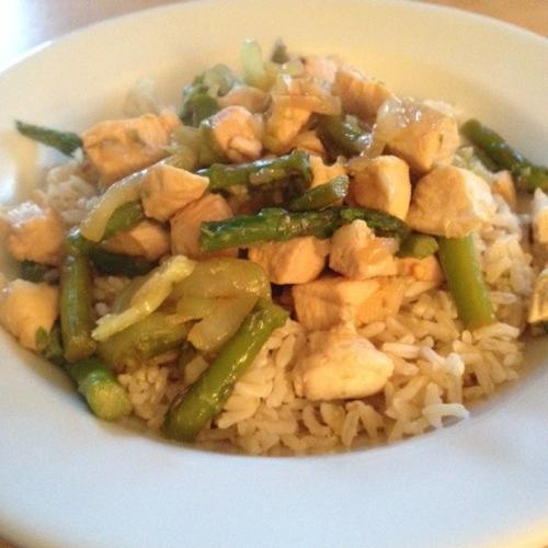 Chicken, Asparagus and Bok Choy Stir-Fry