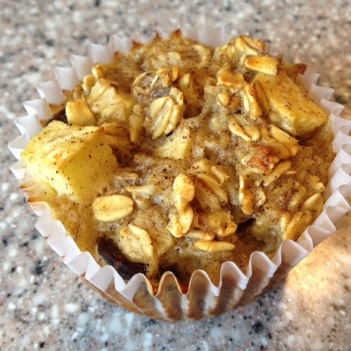 Baked Oatmeal Banana Muffin