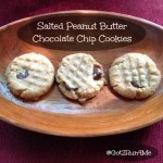 Salted Peanut Butter Chocolate Chip Cookies