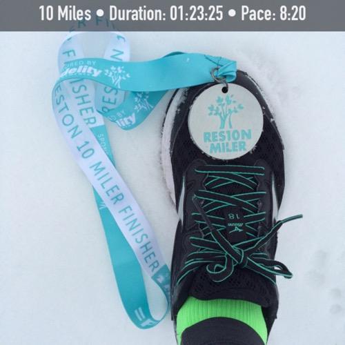 Reston 10 Miler Medal