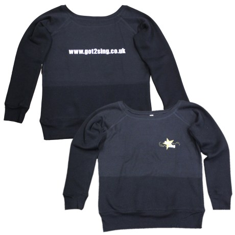 Got2sing Wide neck fleece sweatshirt