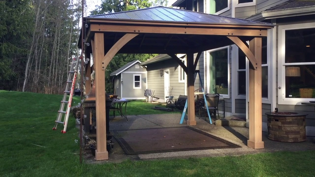 wooden gazebo assembly Got a Hand