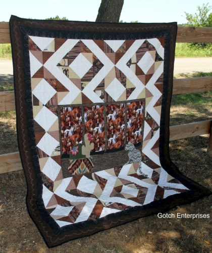 Out a Western Window 2015 Applique Quilt