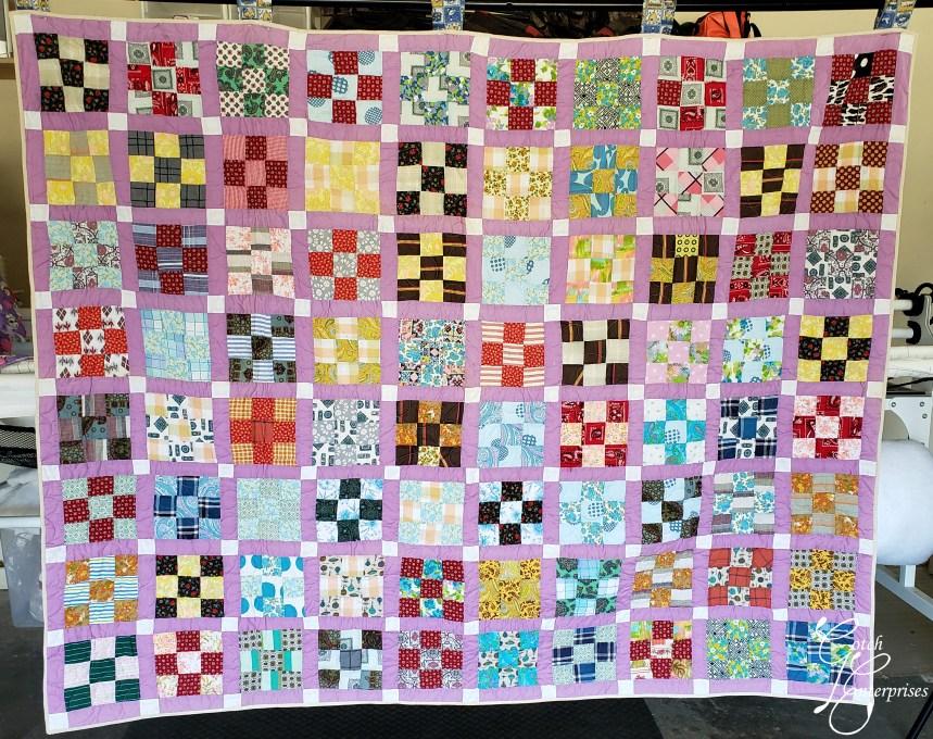 Purple Vintage 9-Patch Grandmas Vintage Quilts