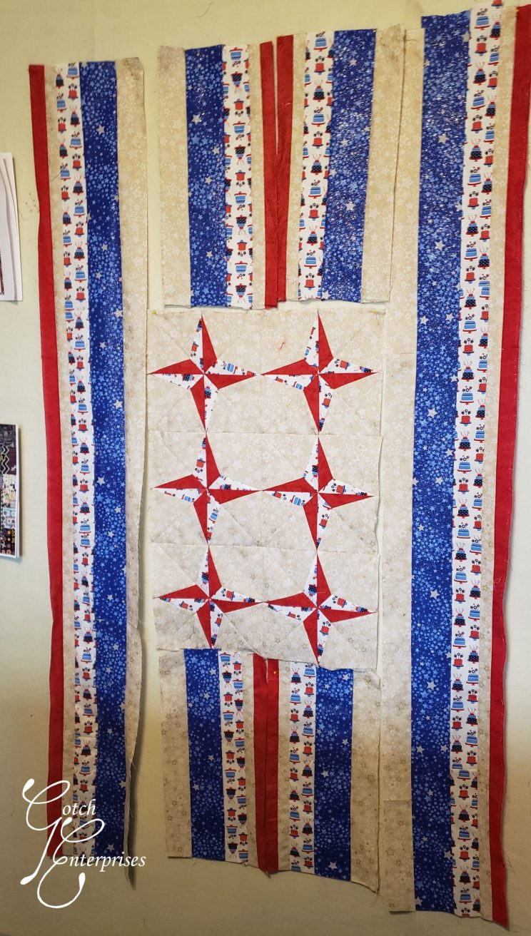 Patriotic Stars Banner Layout 2