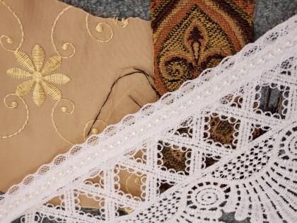 Custom renaissance fair gown fabrics and trim