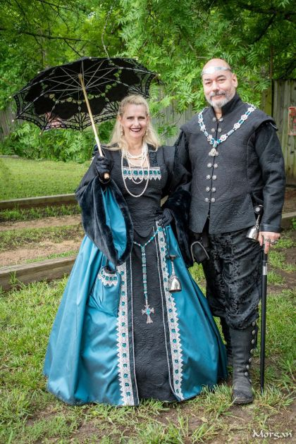 Quilted Gown and Doublet