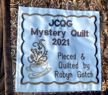 JCQG Mystery Quilt 2021 Label