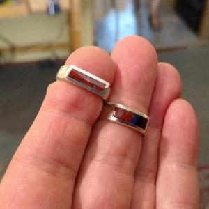 Gemstone Inlay rings