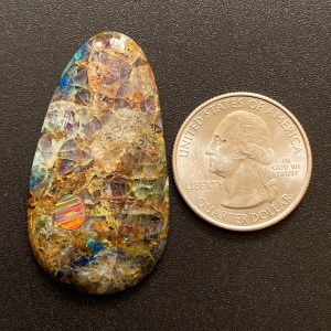 Kaleidoscope Agate and Synthetic Opal Inlay Cabochon Gemstone