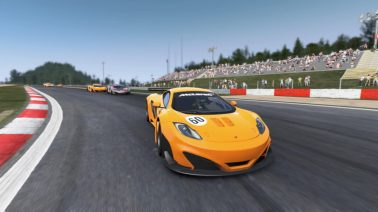 Georgi in his McLaren 12C at the track of Nurburgring