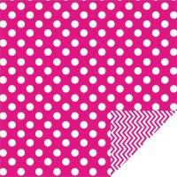 Home Dcor Chevron Large Dots Hot Pink - GoTEMKIN