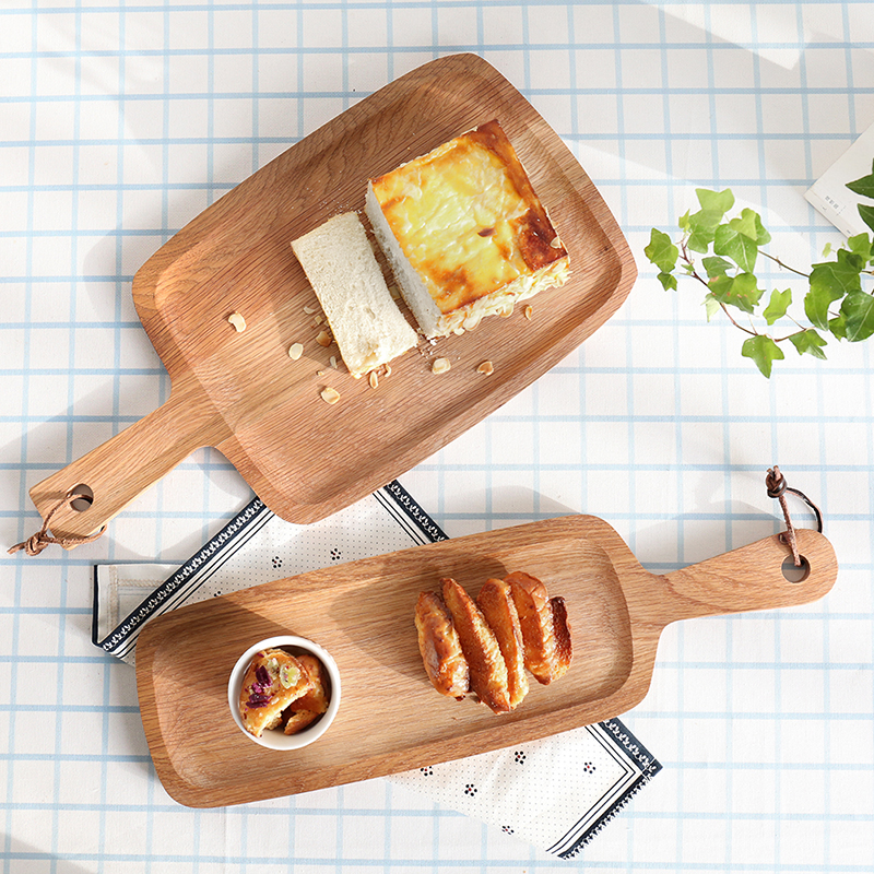 Oak-bread-board-chopping-block-cutting-board-fruit-plate-pizza-wood-pallet-baby-food-supplement-plate
