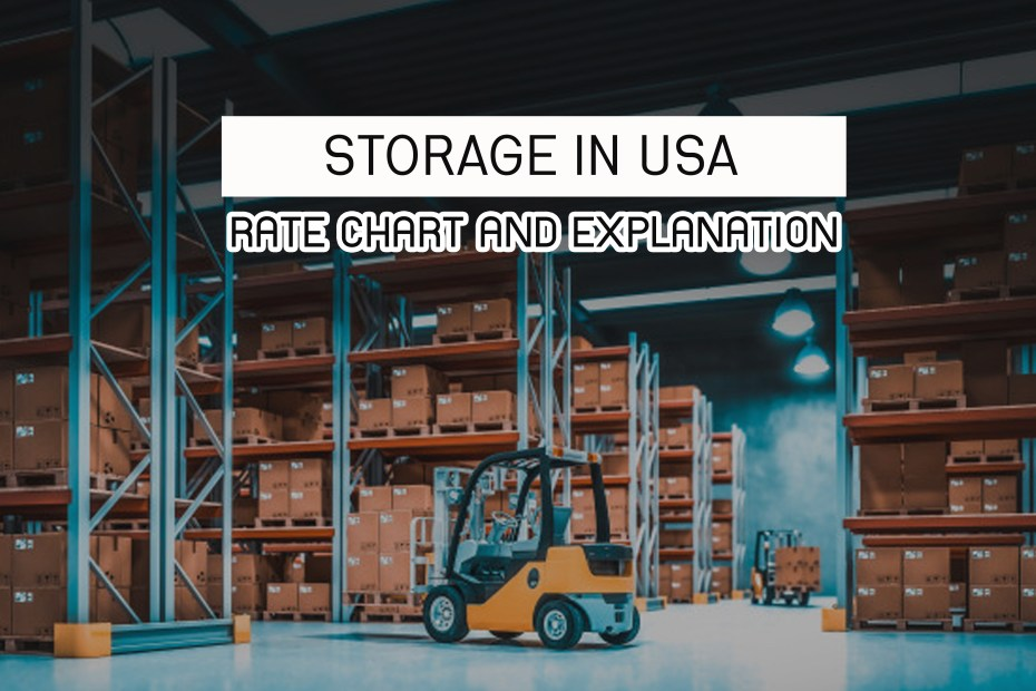 Storage in USA : Rate Chart and Explanation