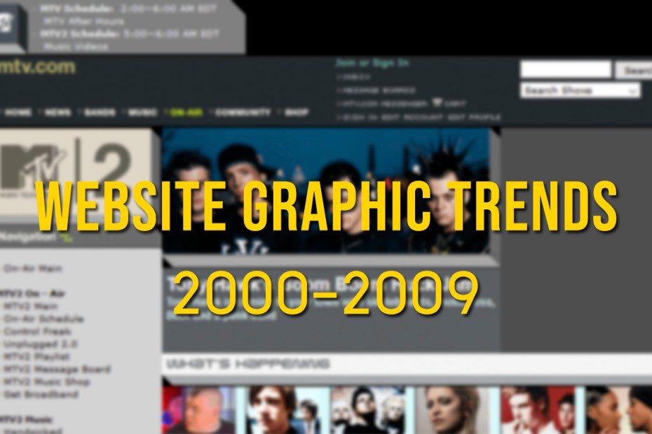 Website graphic trends 2000-2009