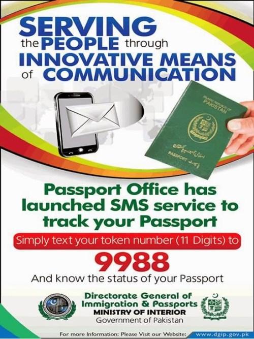 Track Your Pakistani Passport Status Via SMS