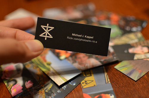 Artist Business Cards photo