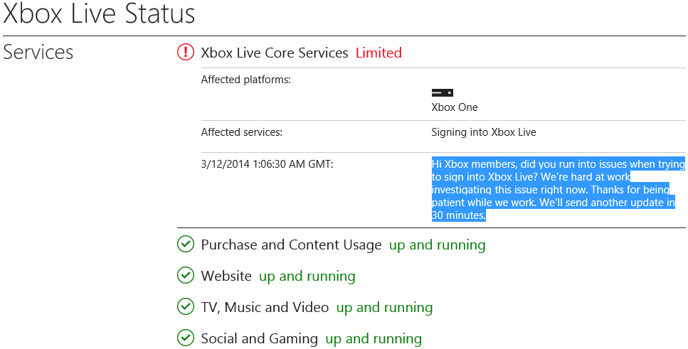 Xbox One Users Are Having Trouble Signing Into Xbox Live