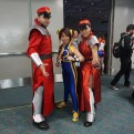 Street Fighter's M. Bison as a man and a woman, with a Chun-Li in the mix.
