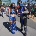Kitana and Sub-Zero from Mortal Kombat