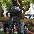 This awesome Halo 3: ODST Shock Trooper chilling next to a tree.