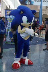 Sega's own Sonic the Hedgehog. Crash Bandicoot was also present but unfortunately his pictures didn't turn out well.