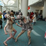 A couple of creepy Silent Hill nurses.