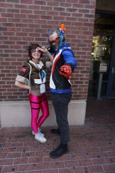 Hot Pink Tracer and Soldier: 76 from Overwatch.