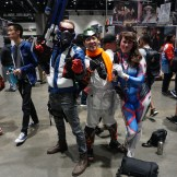 Soldier: 76, Young Genji and D. Va from Overwatch.