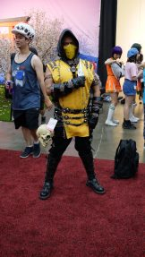 I swear I've seen this Scorpion before....? Scorpion from Mortal Kombat at Anime Expo 2018.