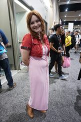 Aerith from Final Fantasy VII.
