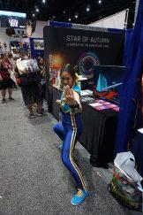 Another Chun-Li in her Street Fighter Alpha attire.