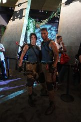 Two Lara Crofts from Square-Enix's Shadow of the Tomb Raider experience at E3 2018.