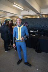 A Vault Dweller attending the Bethesda E3 2018 Showcase.