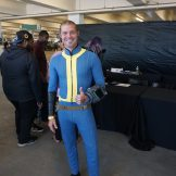 A Vault Dweller attending the Bethesda E3 2018 Showcase.