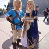 Link and Zelda from The Legend of Zelda: Breath of the Wild.
