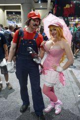 Alina as Princess Peach with her Mario. Find Alina on Twitter (@AlinaMasquerade)!