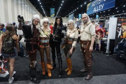 A fantastic group of Witchers with a couple Geralts, a couple Ciris, and the sorceress Yennefer.