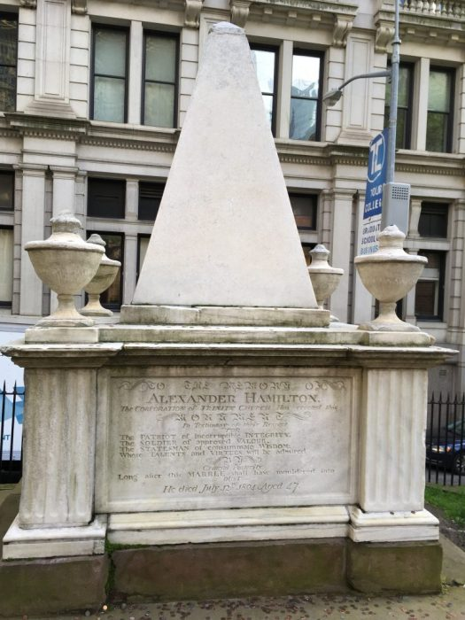 Hamilton Monument, Trinity Church, Manhattan