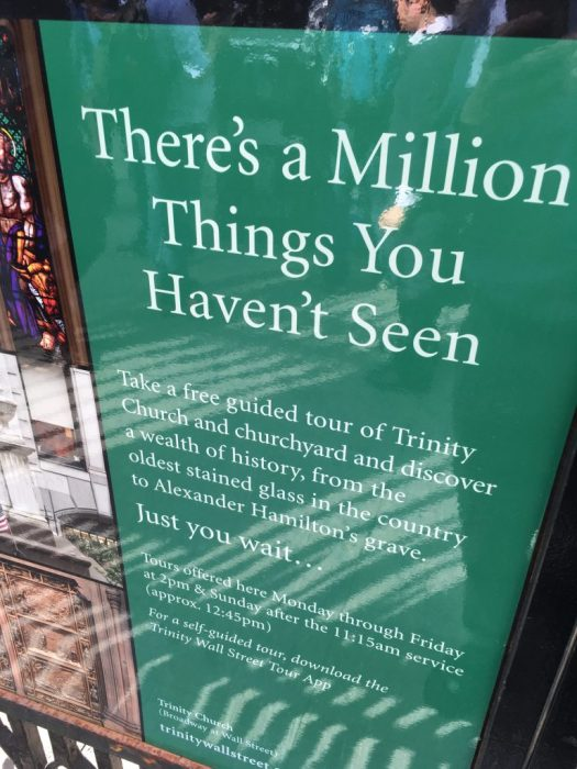 There's a Million Things You Haven't Seen...at Trinity Church